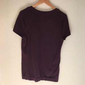 Dark Purple Ann Taylor Knit Blouse